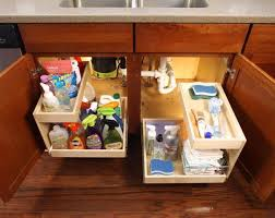 kitchen sink cabinet storage ideas shelfgenie of orlando installs riser sliding shelves glide