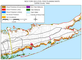 County Map New York by Sea Level Rise Planning Maps Likelihood Of Shore Protection