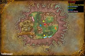 Wow Kalimdor Map Wow Rare Spawns Teldrassil Rare Spawns