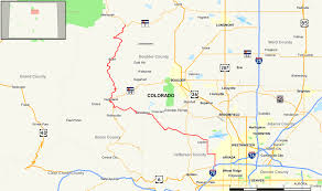 Colorado Map by Colorado State Highway 72 Wikipedia