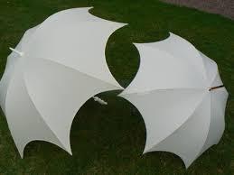 parapluie mariage parapluies échancrés