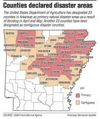 us map searcy arkansas 46 arkansas counties get usda s disaster tag