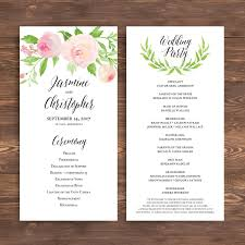 wedding program template wedding ceremony program template free calendar template letter