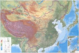 Physical Map Of China by