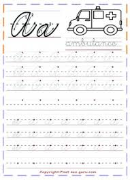 cursive alphabet practice sheet printing handwriting pinterest