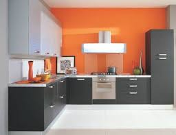 Orange And White Kitchen Ideas Beautiful Orange Accents Kitchen Design With White Floor 1865