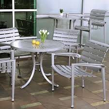 Veer Cast Aluminum Chairs Tropitone - Outdoor aluminum furniture