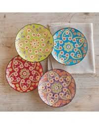 set of 4 decorative plates foter