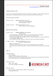 format for resume free resume templates 2017