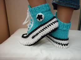 pattern crochet converse slippers crochet pattern converse slippers knitted pattern slippers