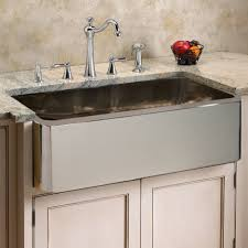 kitchen with apron sink decor using stainless farmhouse sink for dazzling kitchen