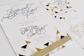 triangle glitter invitations sail and swan