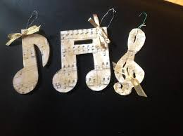 decorations musical notes set of four bamboo musical