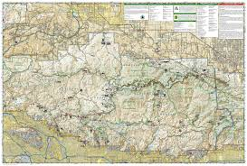 Santa Clarita Zip Code Map by Angeles National Forest National Geographic Trails Illustrated