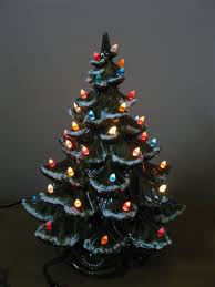 decoration tabletop trees with lights decorated