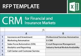 customer relationship management crm rfp template