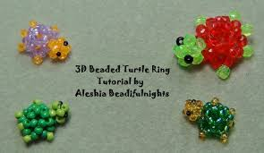 3d beaded turtle ring tutorial youtube