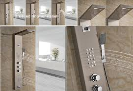 simple bathroom shower panels on small home remodel ideas with