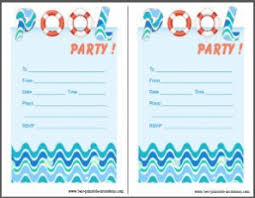 printable pool party invitations for you thewhipper com