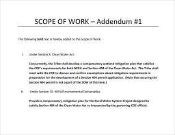 scope of work 22 dowload free documents in pdf word excel