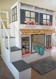 Doll House Bunk Bed The Ultimate Custom Dollhouse Loft Or Bunk Bed Bigdiyideas