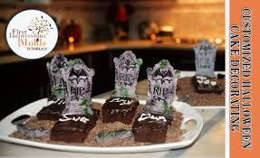 personalize edible halloween tombstone desserts u0026 place cards
