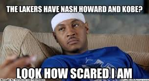 Memes Scared - memes of the day heat vs bobcats scared melo kobe