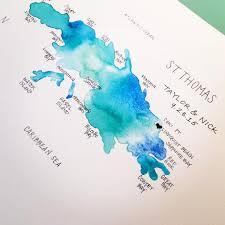 St Croix Map St Thomas St John St Croix U2013 Us Virgin Islands U2013 Giclée Prints