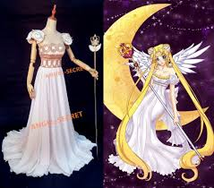 p155 sailor moon cosplay princess gown dress costumes scepter