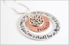 bible necklace custom bible quote necklace tree of charm psalm 3 3 or