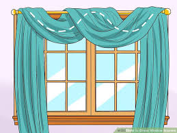 How To Make A Pelmet Valance How To Drape Window Scarves 5 Steps With Pictures Wikihow