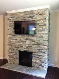home decor creative fireplace stacked stone designs and colors