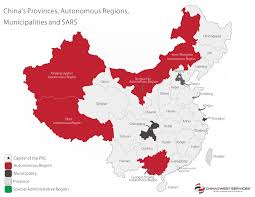 China Political Map by China Manufacturing Cities China 2 West Services Ltd
