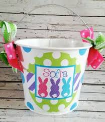 easter pail custom made easter basket metal pail monogram personalized with