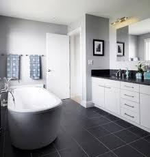 Best Gray Floors Images On Pinterest Kitchen Kitchen Ideas - White cabinets dark floor bathroom