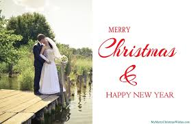 Newlywed Cards Just Married Christmas Cards For Newlywed Couples Xmas Love Photos