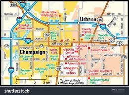 University Of Illinois Map Champaign Illinois Area Map Stock Vector 162931556 Shutterstock