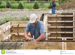 construction basement concrete wall forms editorial stock image