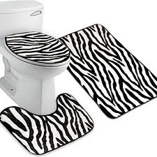 Zebra Bath Rug Pixnor 3 Bath Rug Set Pattern Bathroom Rug Large Contour