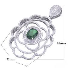 Custom Necklace Pendants Aliexpress Com Buy 2017 Private Custom Zirconia Flower Floating