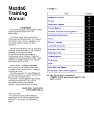 mazda6 training manual foreword this manual by rob issuu