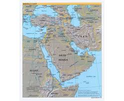 Fertile Crescent Map Maps Of The Middle East Middle East Maps Collection Of