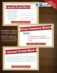 postcard template u2013 modern charms whimscal flyer clean simple