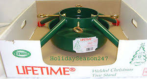 4 leg large metal live christmas tree stand holiday hold up 12ft