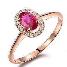 ruby rings sale images Sale 1 25 carat red ruby and diamond engagement ring in 10k rose jpg
