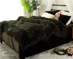 full size blackish green super soft plush 4 piece fluffy bedding