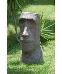 easter island garden statue diy with hypertufa tiki