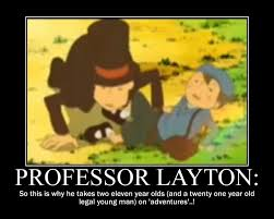Professor Layton Meme - i love legal luke s deviantart gallery