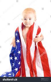 Baby Flag Baby Usa Flag Stock Photo 16928170 Shutterstock