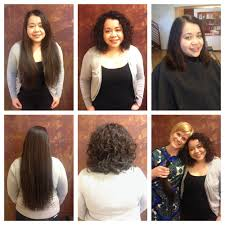 before and after hair donation haircut and american wave by